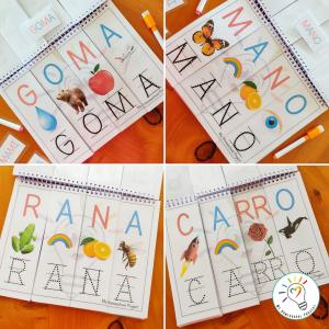 Libro móvil para formar palabras